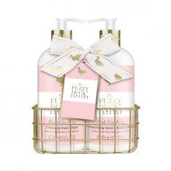 Baylis & Harding Fuzzy Duck Pink Gin Fizz 2 Bottle Set in Rack