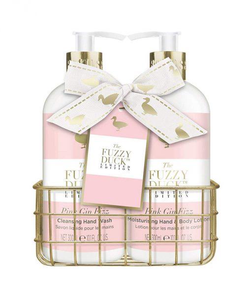 Fuzzy Duck Pink Gin Fizz 2 Bottle Set in Rack