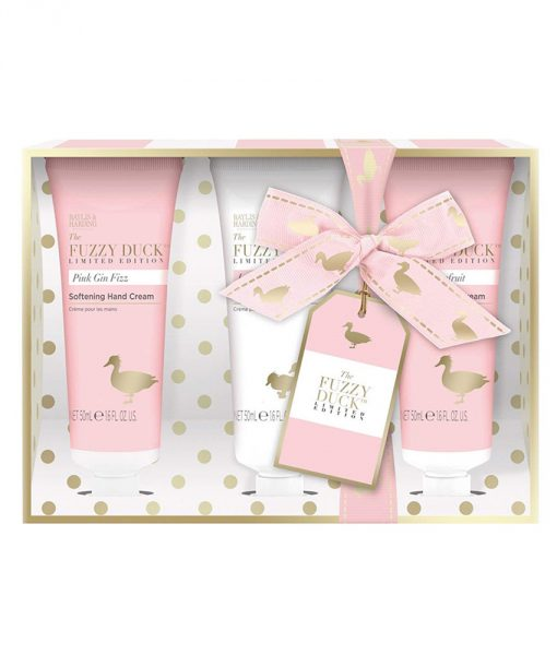 Fuzzy Duck Pink Gin Fizz 3 Hand Cream Set