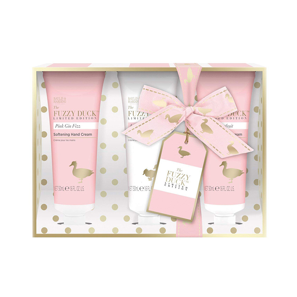 Fuzzy Duck Pink Gin Fizz 3 Hand Cream Set
