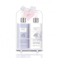 Baylis & Harding La Maison White Lavender 2 Bottle Set in Rack