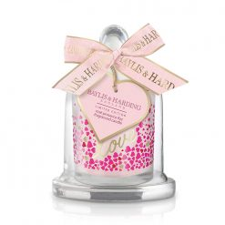 Baylis & Harding Rose Prosecco Fizz Single Wick Candle with Cloche