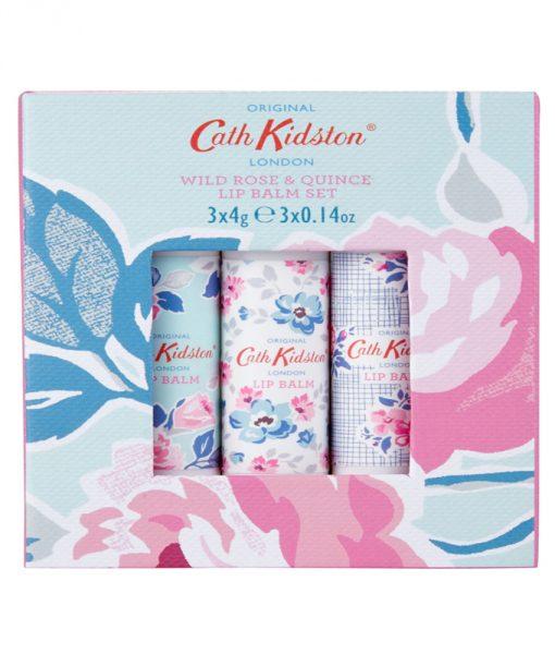 Cath Kidston Wild Rose & Quince 3x4g Lip Balm Set