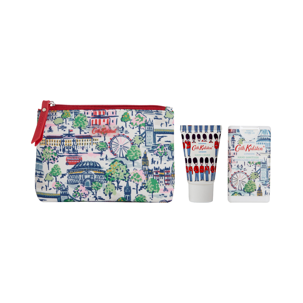 London View Cosmetic Pouch with Hand Cream and Hand Sanitizer