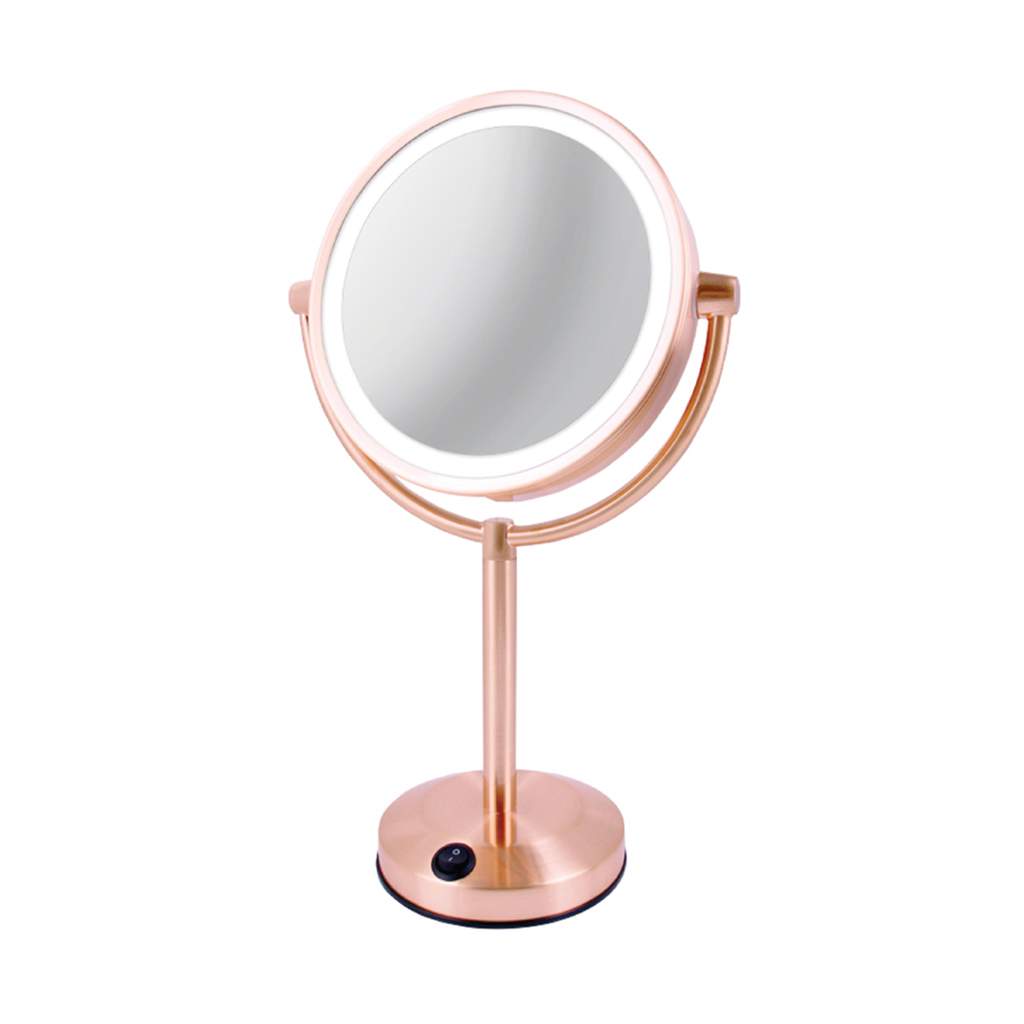 Double-Sided Super Bright LED Mirror with Rose Gold Finish (ED20KT)