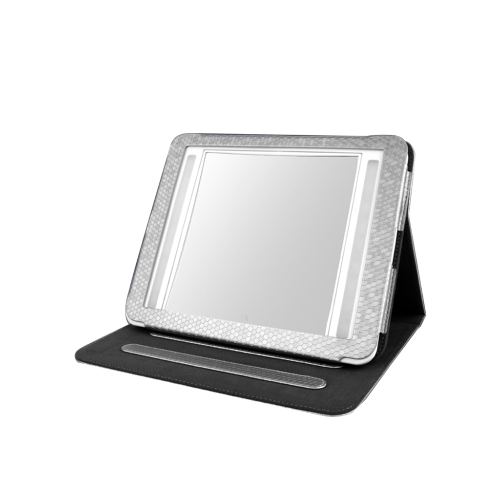 Double-Sided Bright Illuminated LED Mirror with Leather Case (IM2419)