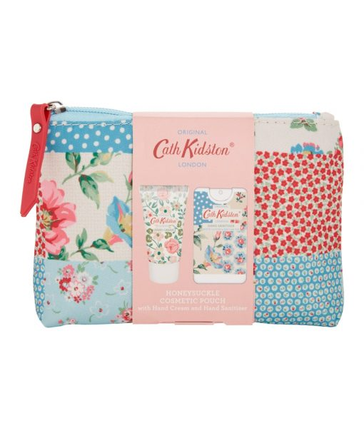 Cath Kidston Cottage Patchwork Cosmetic Pouch  with Hand Cream and Hand Sanitizer
