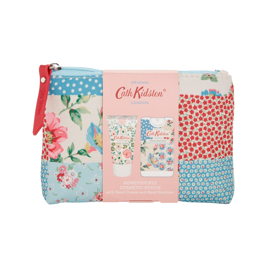 Cottage Patchwork Cosmetic Pouch  with Hand Cream and Hand Sanitizer