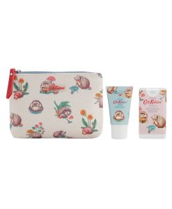 Cath Kidston Gardeners Club Cosmetic Pouch with Hand Cream and Hand Sanitizer