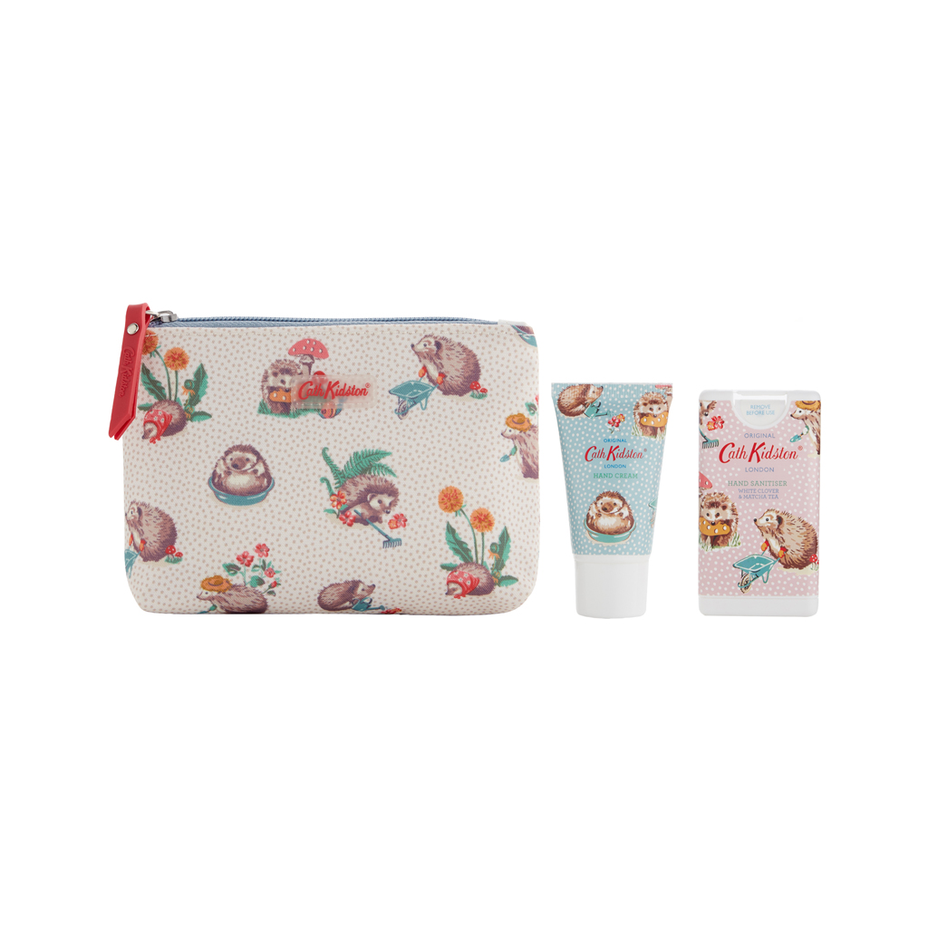 Gardeners Club Cosmetic Pouch with Hand Cream and Hand Sanitizer
