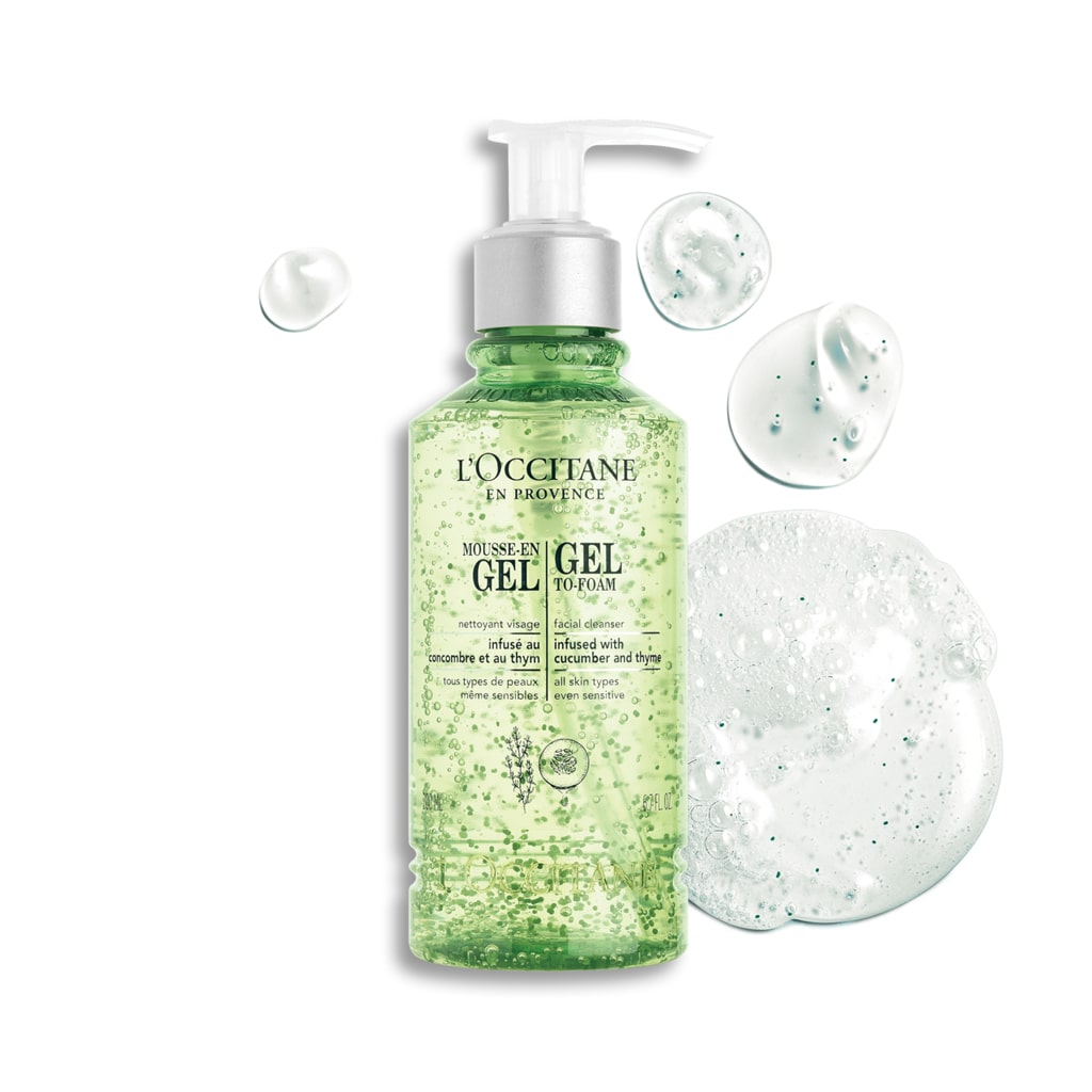 Gel to Foam Facial Cleanser