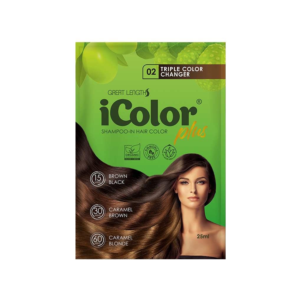 Hair Dye Shampoo Triple Color Changer