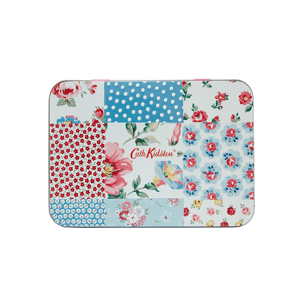 Cottage Patchwork Hand & Lip Tin