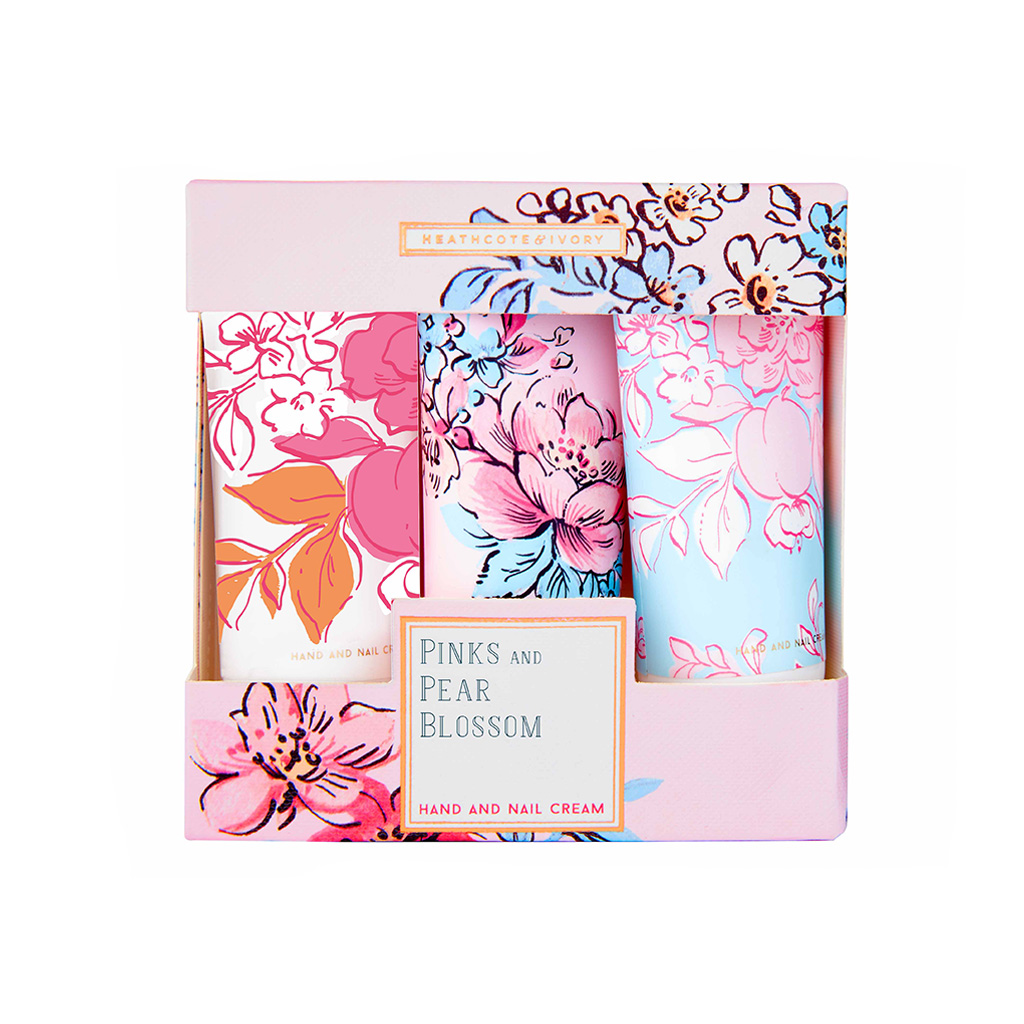 Pinks & Pear Blossom Hand &Nail Cream Collection (3x30ml Hand & Nail Cream)