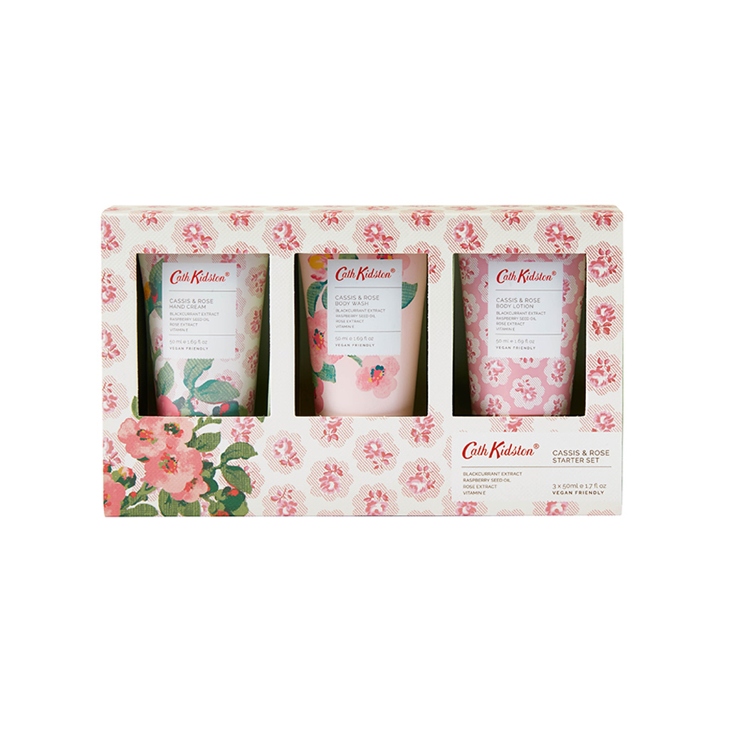 Freston Cassis & Rose Starter Set (50ml Hand Cream, 50ml Body Lotion & 50ml Body Wash)