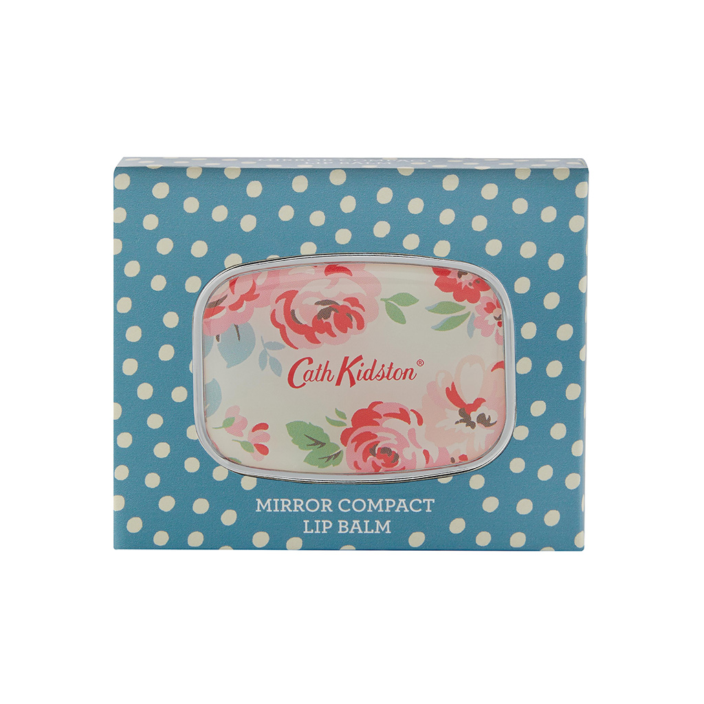 Cottage Patchwork Compact Mirror Lip Balm 6g