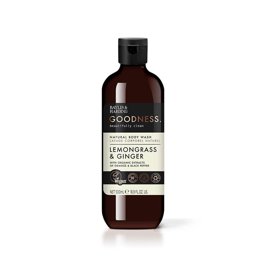 Goodness Lemongrass & Ginger 500ml Body Wash