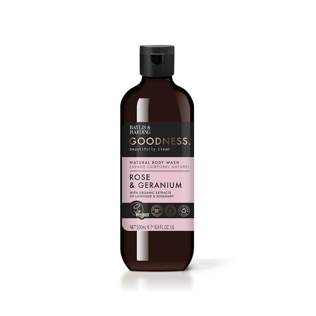 Goodness Rose & Geranium 500ml Body Wash