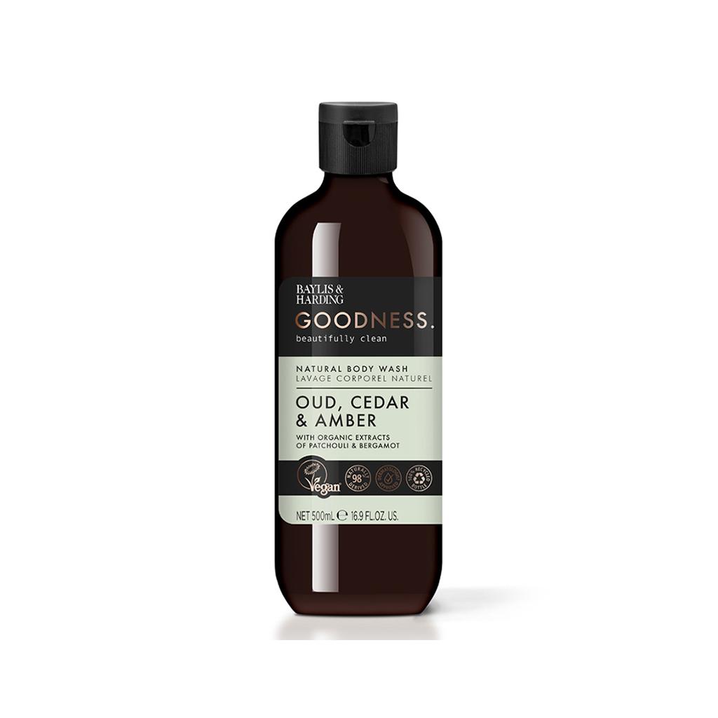 Goodness Oud, Cedar & Amber 500ml Body Wash