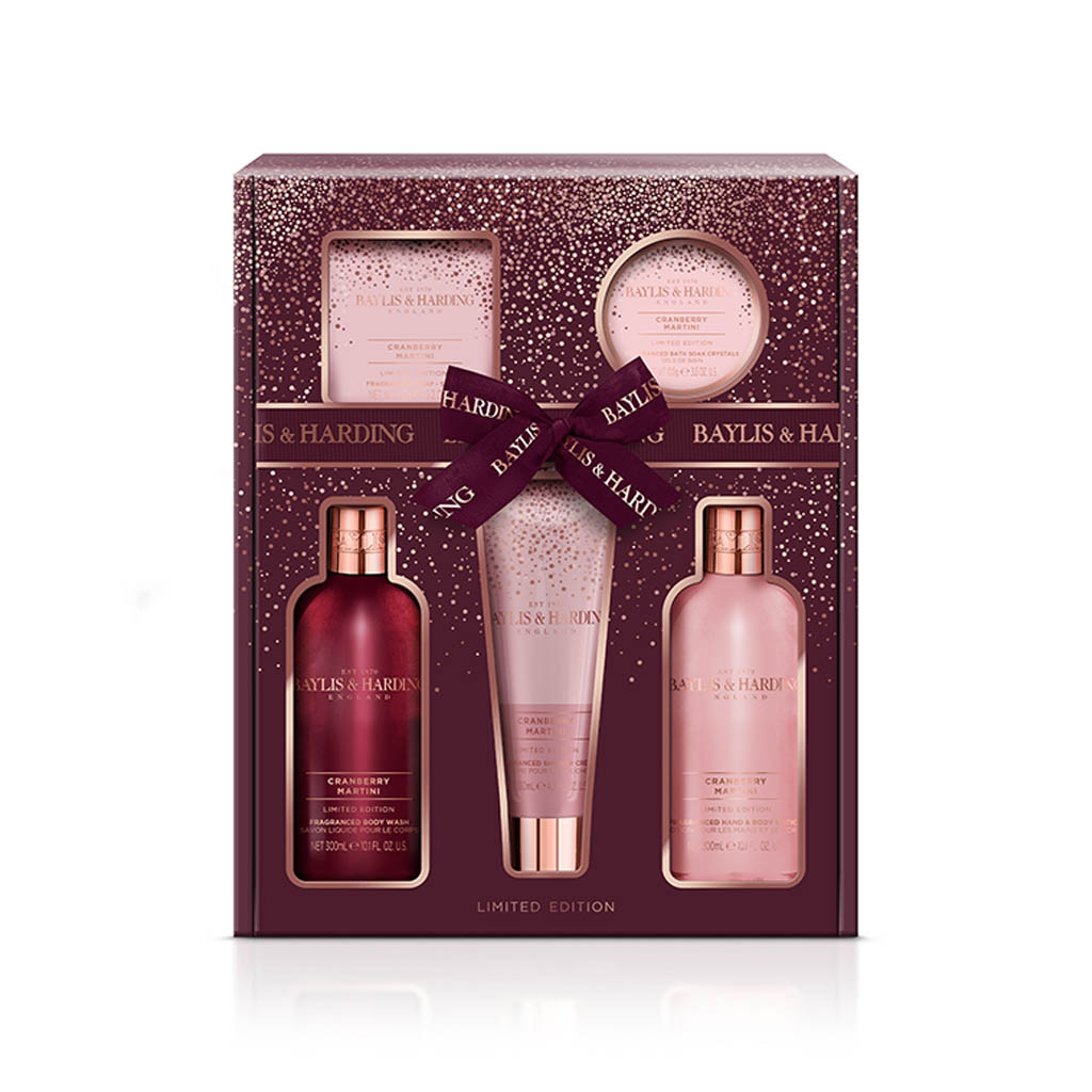 Cranberry Martini 5 Piece Gift Set