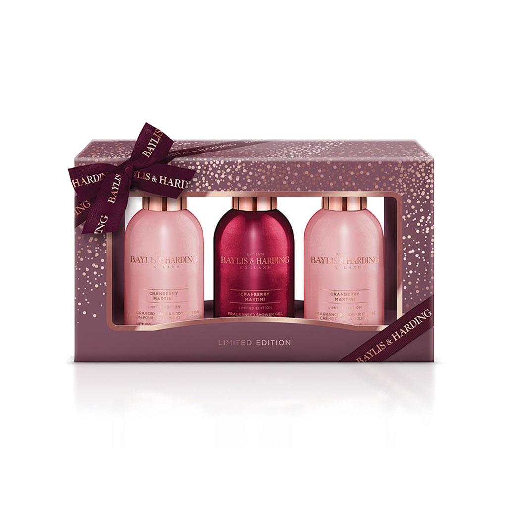 Cranberry Martini Trio Gift Set
