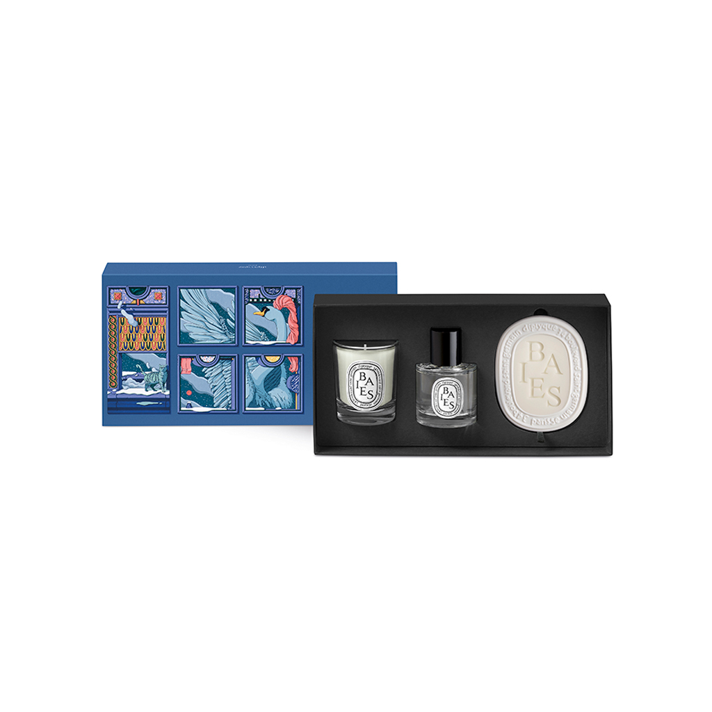 Baies Best of Set (70g Candle, Small Roomspray 50ml, Oval 35g)