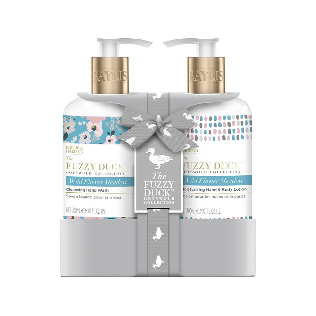 The Fuzzy Duck Cotswold Floral 2 Bottle Set